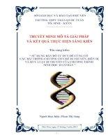 SKKN sử dụng bản đồ tư duy để củng cố các bài trong chương cơ chế di truyền, biến dị và các quy luật di truyền của chương trình sinh học 12 cơ bản