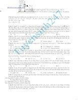 ĐỀ THI THỬ THPT QUỐC GIA năm 2016 môn hóa đề số 7