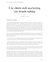 Các chính sách marketing của doanh nghiệp