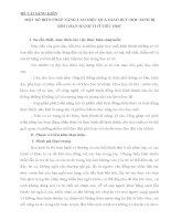 SKKN một số BIỆN PHÁP NÂNG CAO HIỆU QUẢ GIÁO dục học SINH bị rối LOẠN HÀNH VI ở TIỂU học