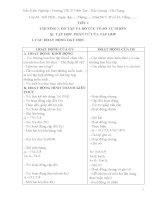 Kế hoạch bài giảng số học 6 VNEN (2015   2016)