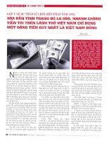 Góp ý về dự thảo sửa đổi hiến pháp năm 1992 xóa dần tình trạng đô la hóa, nhanh chống tiến tới trên lãnh thổ việt nam chỉ dùng một đồng tiền duy nhất là việt nam đồng