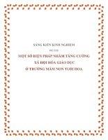 skkn-Một số biện pháp nhằm tăng cường xã hội hóa giáo dục ở trường mầm non Tuổi Hoa
