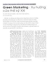 Green marketing   xu hướng của thế kỷ XXI