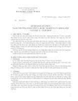 KẾ HOẠCH TỔ CHỨC GIẢI THƯỞNG SINH VIÊN Y DƯỢC NGHIÊN CỨU KHOA HỌC LẦN THỨ 2-2013