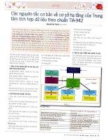 Các nguyên tắc cơ bản về cơ sở hạ tầng của trung tâm tích hợp dữ liệu theo chuẩn TIA 942