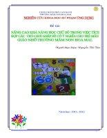 skkn nâng cao khả năng học các chữ số trong việc tích hợp các trò chơi ghép số có ý nghĩa cho trẻ mẫu giáo nhỡ tại trường mầm non hoa mai