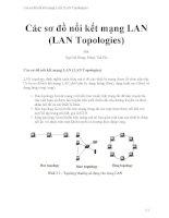 Các sơ đồ nối kết mạng LAN (LAN topologies)