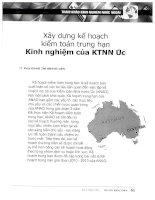 Xây dựng kế hoạch kiểm toán trung hạn   kinh nghiệm của KTNN úc