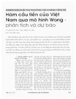 Hàm cầu tiền của việt nam qua mô hình wong   phân tích và dự báo
