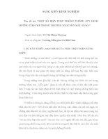 SKKN một số BIỆN PHÁP PHÒNG CHỐNG SUY DINH DƯỠNG CHO TRẺ TRONG TRƯỜNG mầm NON mẫu GIÁO