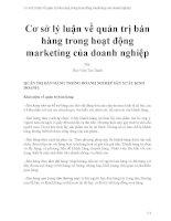 Cơ sở lý luận về quản trị bán hàng trong hoạt động marketing của doanh nghiệp