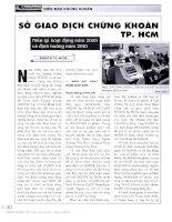 Sở giao dịch chứng khoán tp  hồ chí minh  sở giao dịch chứng khoán tp HCM nhìn lại hoạt động năm 2009 và định hướng năm 2010