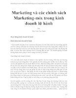 Marketing và các chính sách marketing mix trong kinh doanh lữ hành
