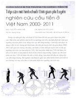 Tiếp cận mô hình chuỗi thời gian phi tuyến nghiên cứu cầu tiền ở việt nam 2000 2011