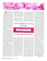 Kinh nghiệm xây dựng mô hình megabank tại ngân hàng nhật bản