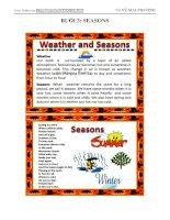Vocabulary 3 - Seasons