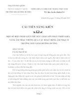 SKKN một số BIỆN PHÁP GIÚP TRẺ mẫu GIÁO lớn PHÁT TRIỂN KHẢ NĂNG âm NHẠC THÔNG QUA các HOẠT ĐỘNG âm NHẠC ở TRƯỜNG mẫu GIÁO HƯỚNG DƯƠNG