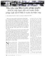 Yêu cầu của nhà nước pháp quyền XHCN việt nam đối với hoàn thiện pháp luật về KTNN ở nước ta hiện nay