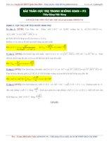 một số bài toán về cực trị thể tích p2
