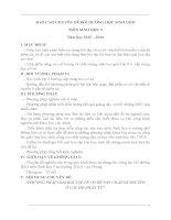 PHƯƠNG PHÁP GIẢI BÀI TẬP VỀ CƠ SỞ VẬT CHẤT DI TRUYỀN  Ở CẤP ĐỘ PHÂN TỬ