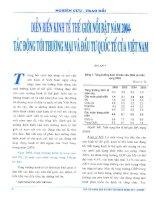 Diễn biến kinh tế thế giới nổi bật năm 2004 tác động tới thương mại và đầu tư quốc tế của việt nam