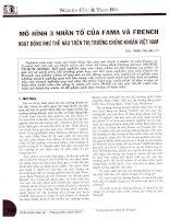 Mô hình 3 nhân tố của FAMA và FRENCH hoạt động như thế nào trên thị trường chứng khoán việt nam