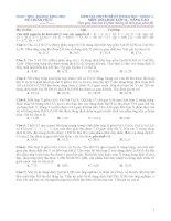 KIỂM TRA CHUYÊN đề lần 1 (lớp 11 THÁNG 11   CACBON)