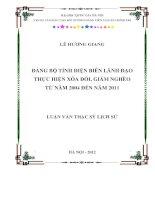 Đảng bộ tỉnh điện biên lãnh đạo thực hiện xóa đói giảm nghèo tu nam 2004 den nam 2011