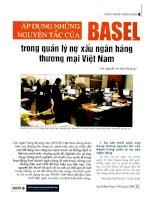 Áp dụng những nguyên tắc của BASEL trong quản lý nợ xấu ngân hàng thương mại việt nam