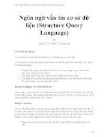 Ngôn ngữ vấn tin cơ sở dữ liệu (structure query language)