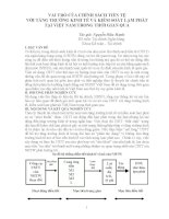 VAI TRÒ CỦA CHÍNH SÁCH TIÈN TỆ VỚI TĂNG TRƯỞNG KINH TẾ VÀ KIỂM SOÁT LẠM PHÁT TẠI VIỆT NAM TRONG THỜI GIAN QUA