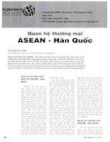 Quan hệ thương mại ASEAN   hàn quốc