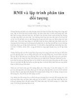 RMI và lập trình phân tán đối tượng