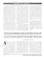 Một số giải pháp nhằm nâng cao hiệu quả hoạt động tài chính vi mô của các tổ chức phi chính phủ ở khu vực nông thôn việt nam