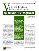 Về cơ chế điều hành kế hoạch kinh doanh tại NHNoPTNT việt nam