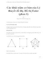 Các khái niệm cơ bản của lý thuyết đồ thị  đồ thị euler (phan 1)