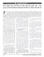 Thực trạng cán cân vãng lai việt nam giai đoạn 1992   2002 và các giải pháp nhằm cải thiện cán cân vãng lai trong thời gian tới