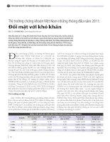 Thị trường chứng khoán việt nam những tháng đầu năm 2011 đối mặt với khó khăn