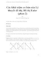 Các khái niệm cơ bản của lý thuyết đồ thị  đồ thị euler (phan 2)