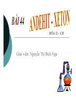 Bài giảng bài anđehit   xeton hóa học 11 (5)
