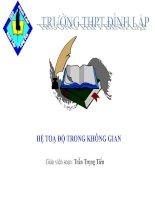 Bài giảng bài hệ trục tọa độ trong không gian hình học 12 (4)