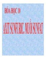 Bài giảng bài axit sunfuric và muối sunfat hóa học 10 (7)