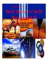 Bài giảng bài hóa học và các vấn đề phát triển kinh tế hóa học 12