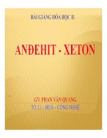 Bài giảng bài anđehit   xeton hóa học 11 (2)
