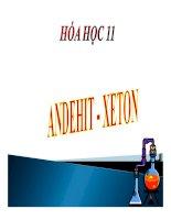 Bài giảng bài anđehit   xeton hóa học 11 (4)