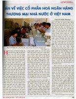 Bàn về việc cổ phần hóa ngân hàng thương mại nhà nước ở việt nam