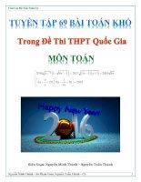 Tuyển tập 69 bài toán khó trong đề thi THPT quốc gia   môn toán