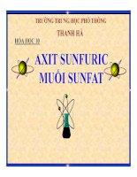 Bài giảng bài axit sunfuric và muối sunfat hóa học 10 (4)