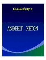 Bài giảng bài anđehit   xeton hóa học 11 (7)